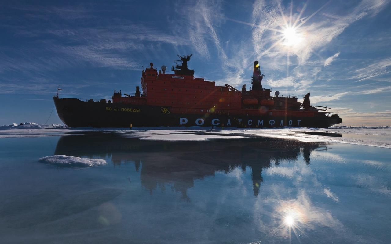 Обои 50 лет победы, россия, судно, атомный ледокол, 10521, Атомфлот. Разное foto 6