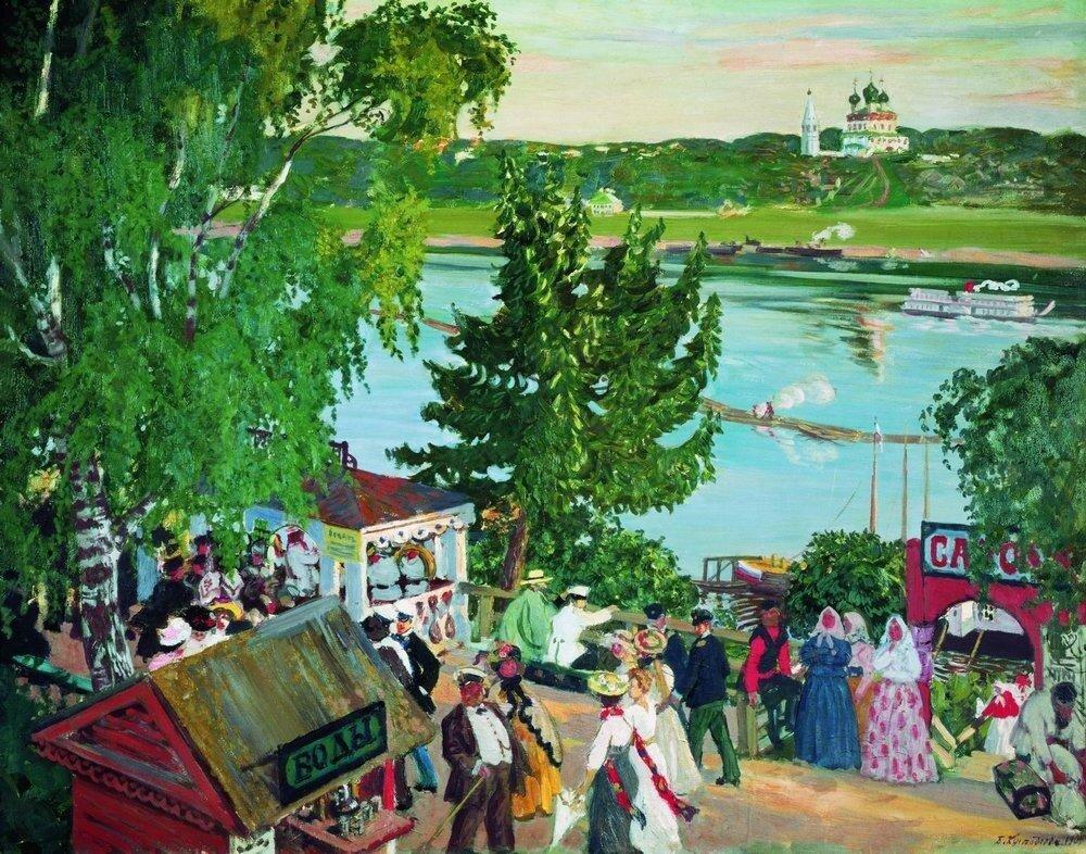 Гулянье на Волге. 1909.jpg