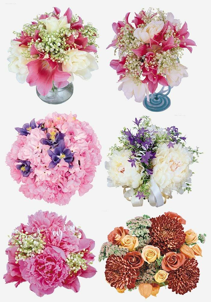 Букеты цветов PSD
