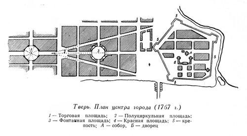 Тверь, генплан центра города