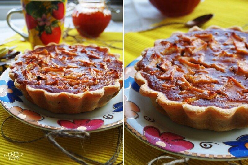 Яблочный пирог карамелью