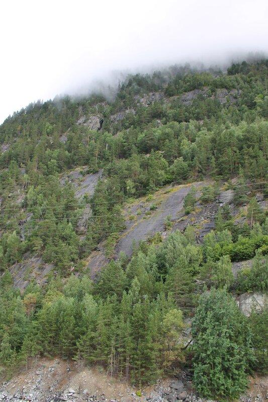 Норвегия, скалы, туман