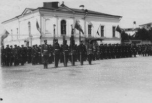Парад в день полкового праздника.