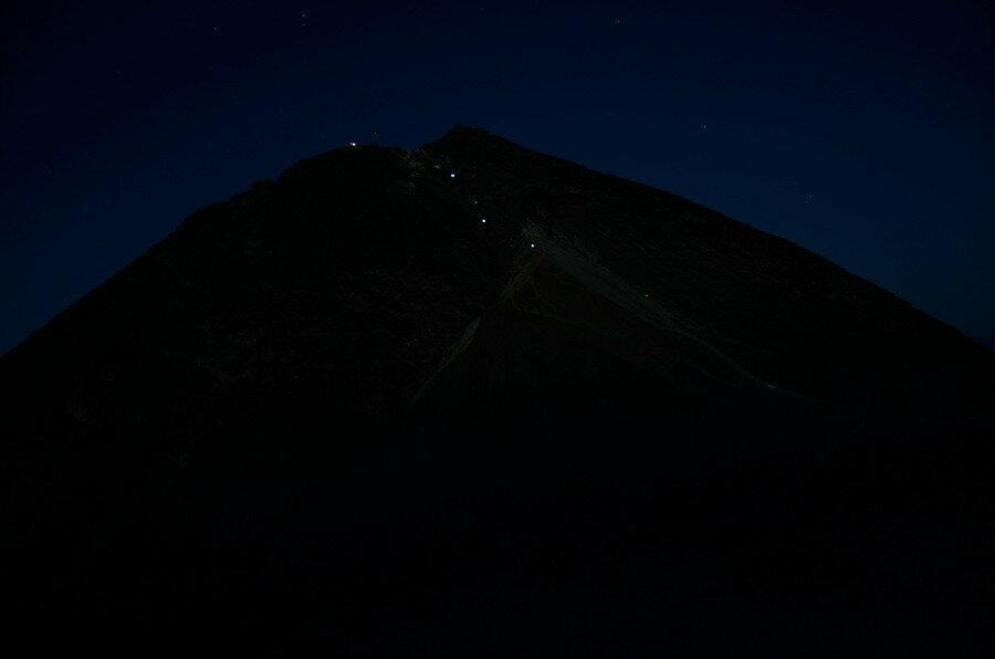 Ночной вулкан