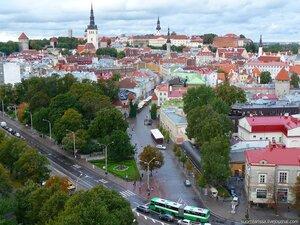 """Вид на город с 17 этажа отеля """"Виру""""."""