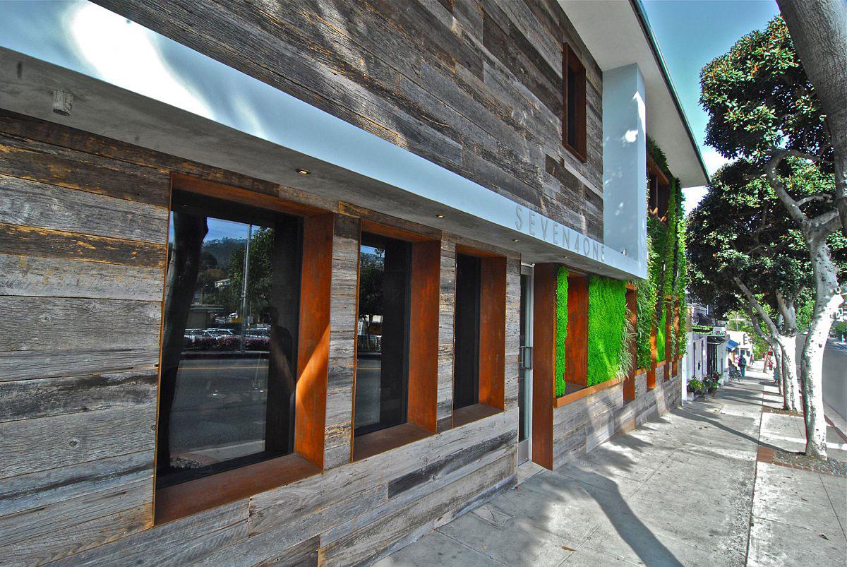 Aris Iliopulos, Seven4one, Horst Architects, зеленая стена, стена из растений, небольшой отель в Лагуна-Бич, отели в Лагуна-Бич, дизайн отеля