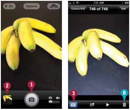 На экране вы можете перемещаться на другие фотографии