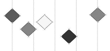 Рис. 4.20. Набор элементов до вызова команды Фигура → Распределить фигуры