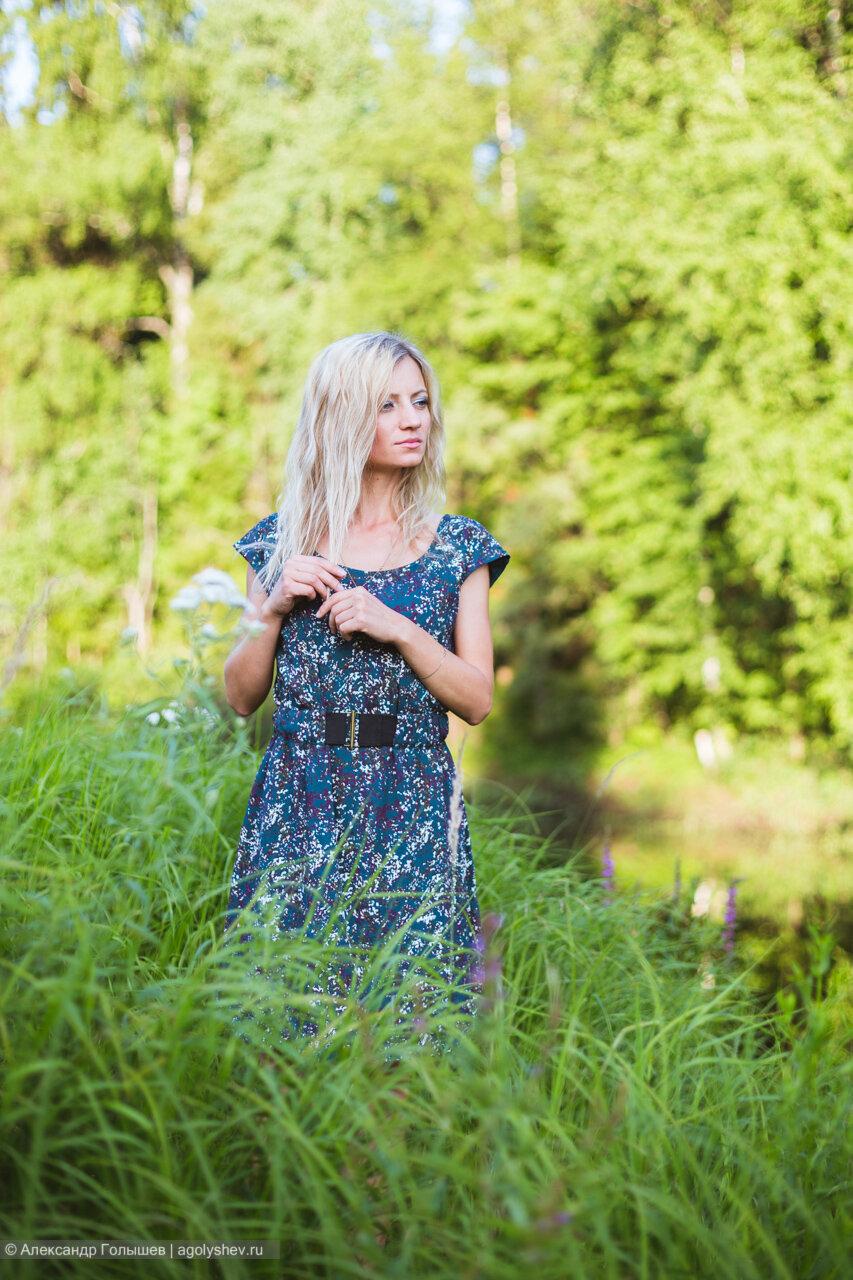 Ирина у озера
