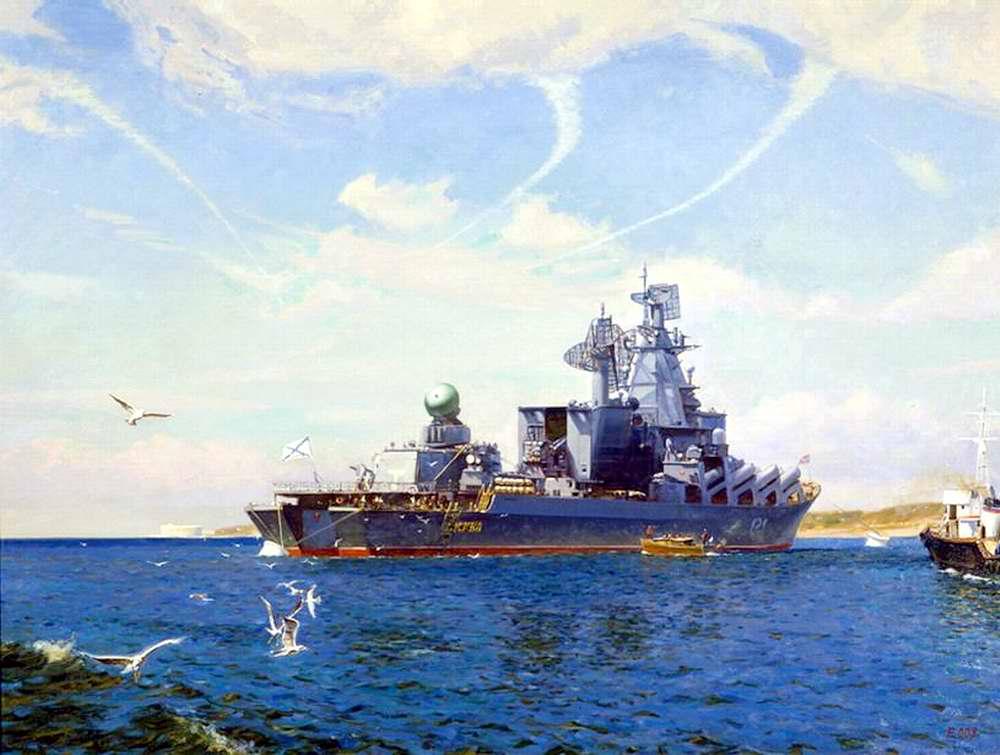Ракетный крейсер Москва (Олег Ездаков, 2008 год)