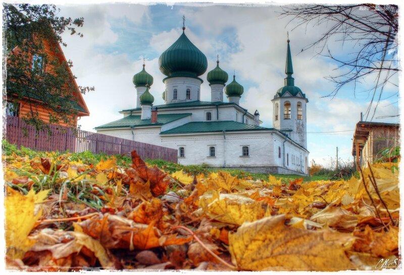 По золоту листвы.