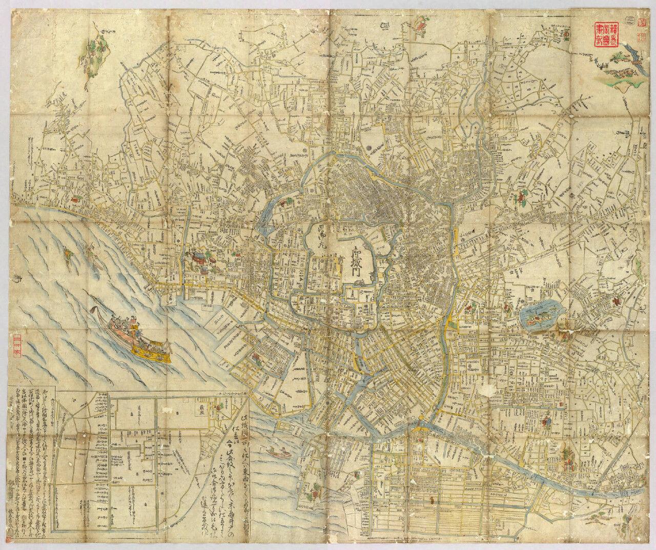 Карта Эдо 1680