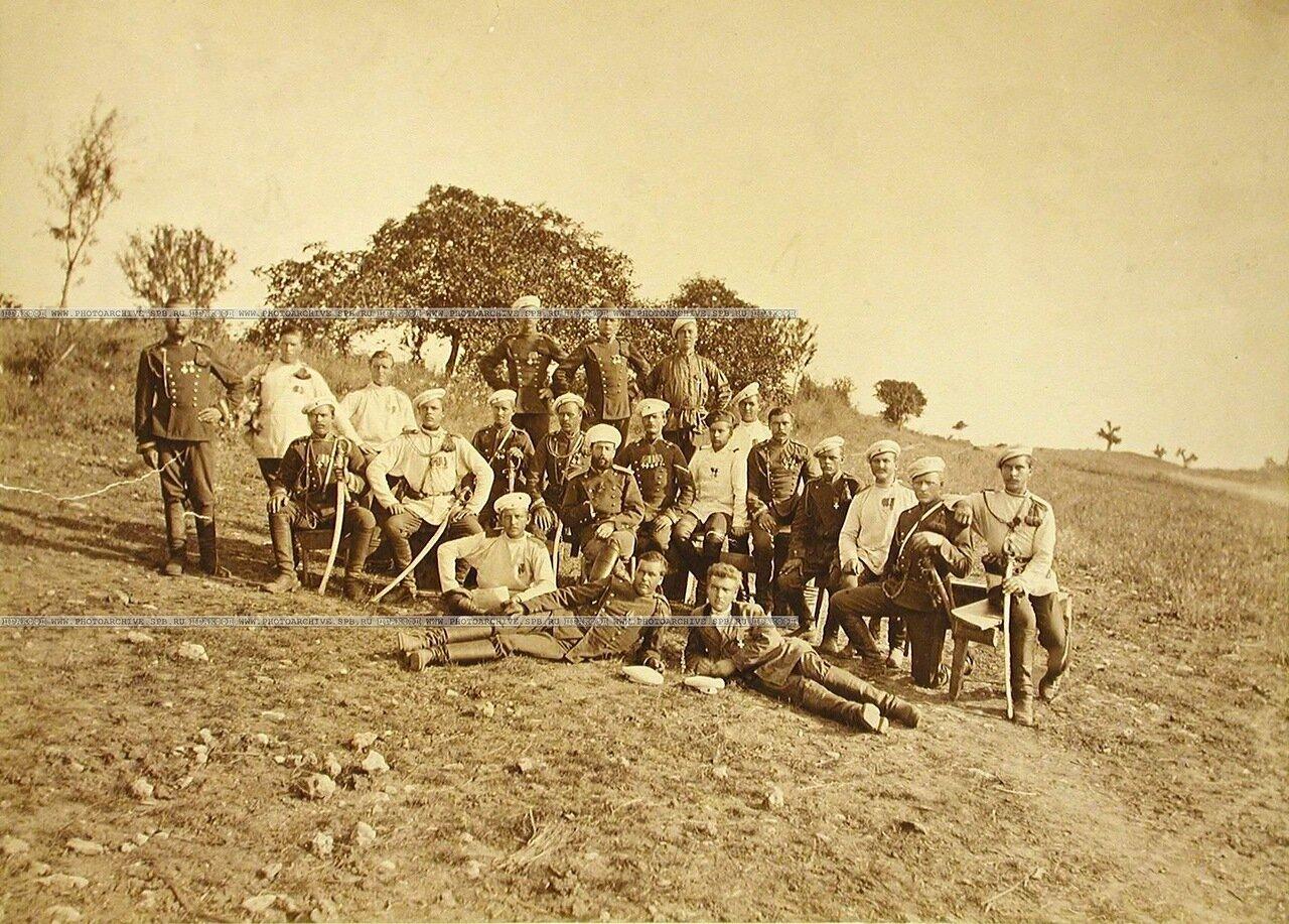 34. Группа офицеров и солдат 3-го эскадрона Лейб-гвардии Уланского полка. Турция. Константинополь