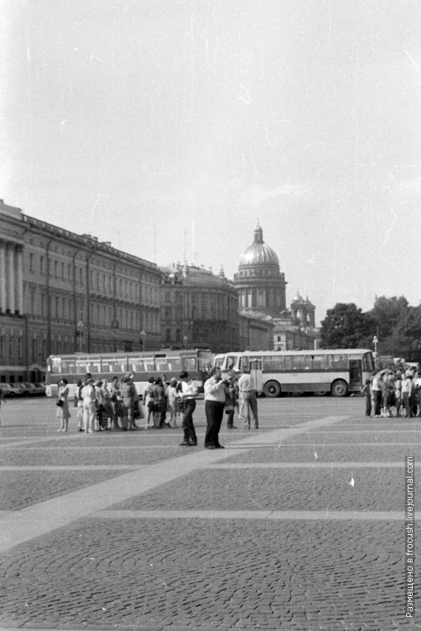 Ленинград 1985 год Дворцовая площадь