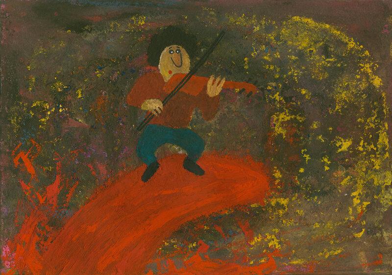 Маленький Яша играет чакону на гребне кровавой волны