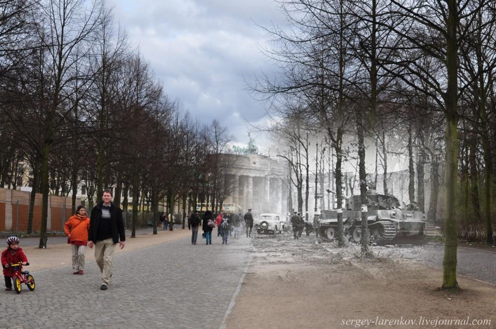 46 Берлин 1945-2010. Подбитый танк Тигр в парке Тиргартен..jpg