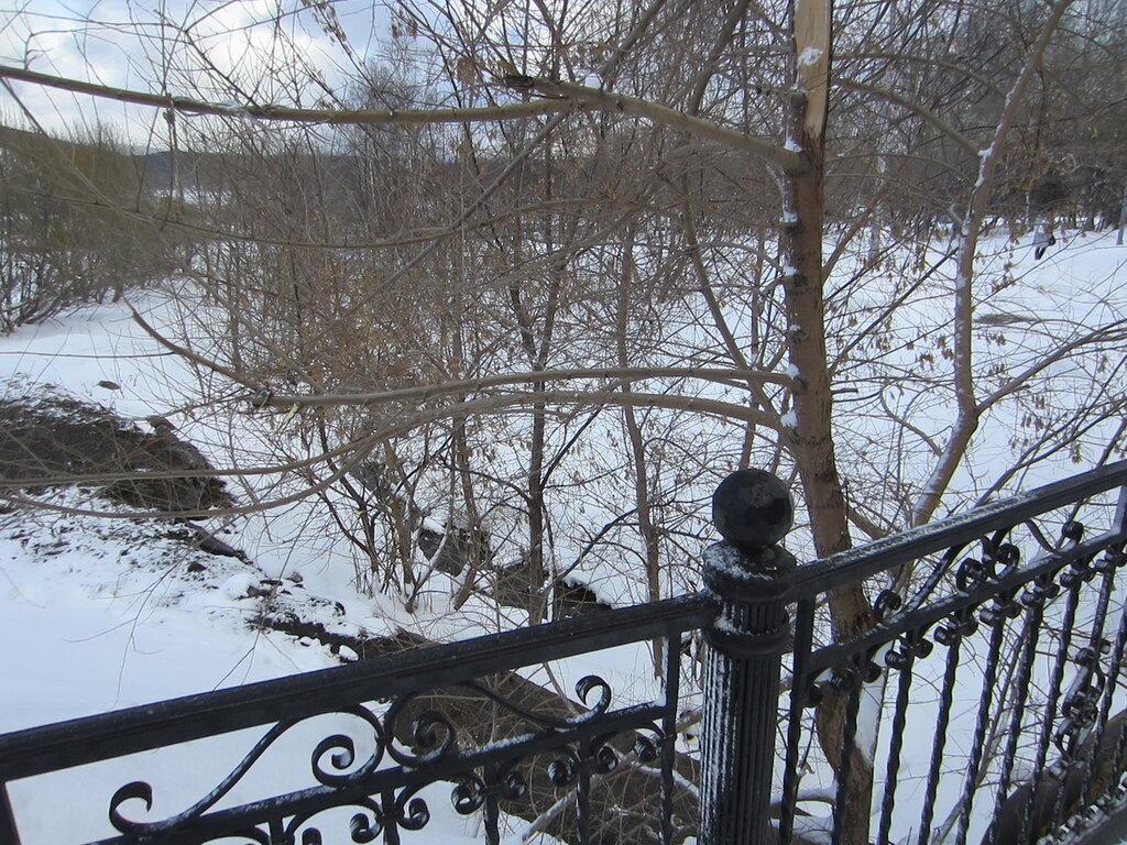Река Громатуха. Вид с моста (19.03.2014)