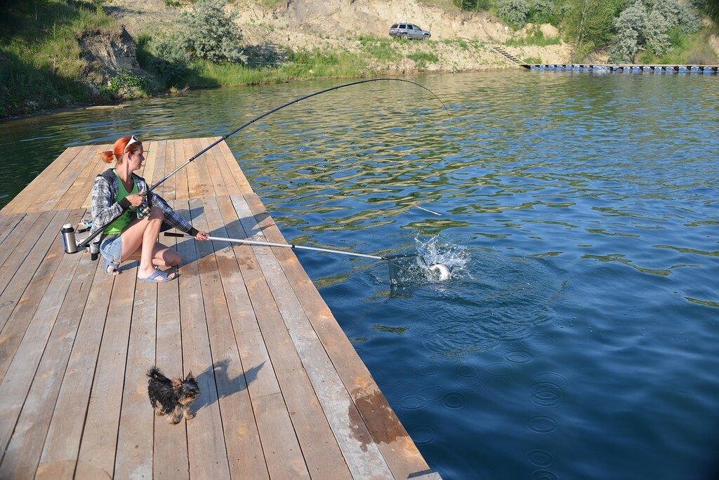 Рыбалка на Зеркальном карьере (19.03.2014)