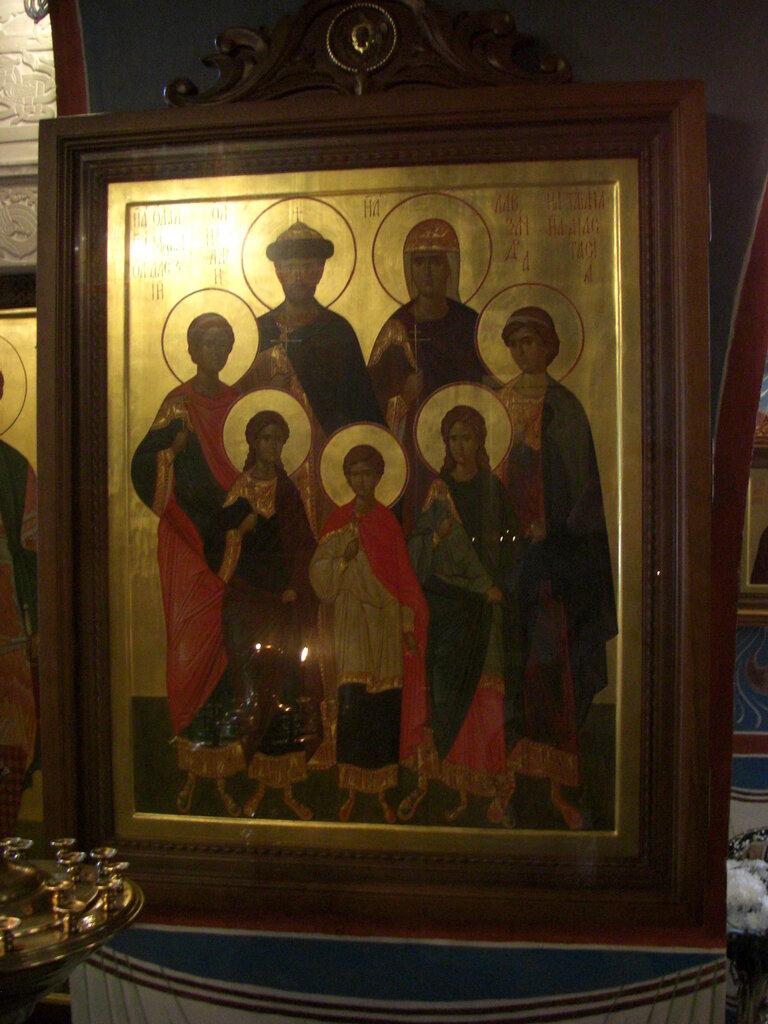 Икона Царственных Страстотерпцев, в честь которых освящен нижний придел (24.04.2014)