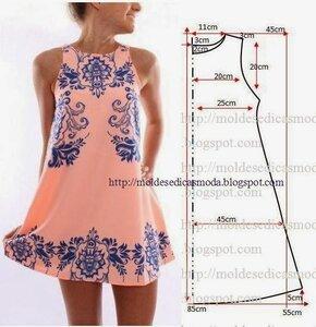 Расклешенное платье выкройка из шифона