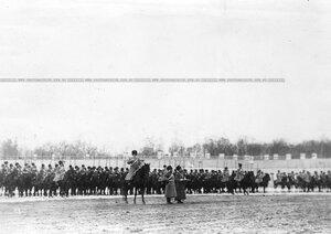 Подразделение полка во время парада на площади перед Екатериненским дворцом.