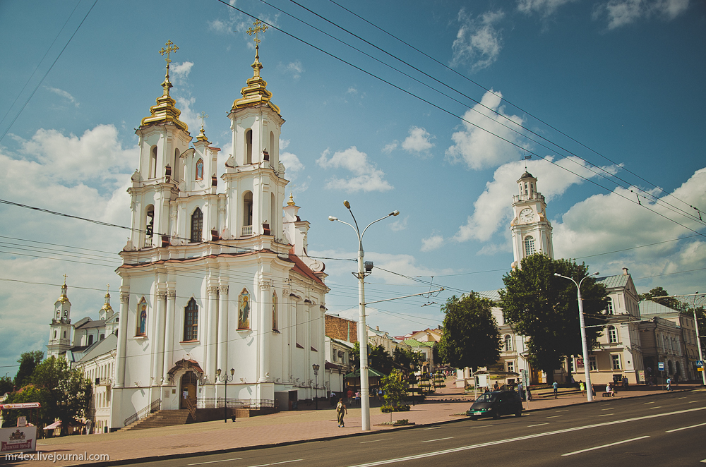Витебск, Воскресенская площадь, Рынковая площадь, Воскресенская церковь, Рынковая церковь, Ратуша Витебска