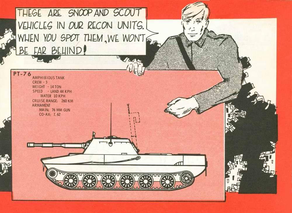 Общий вид плавающего танка ПТ-76