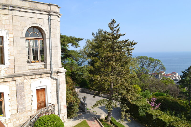вид  балкона Юсуповского дворца