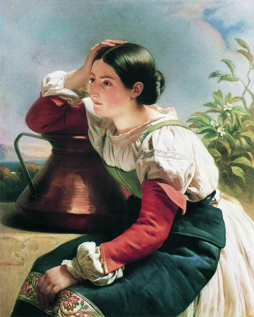 Young Italian Girl at the Well около 1833-1834