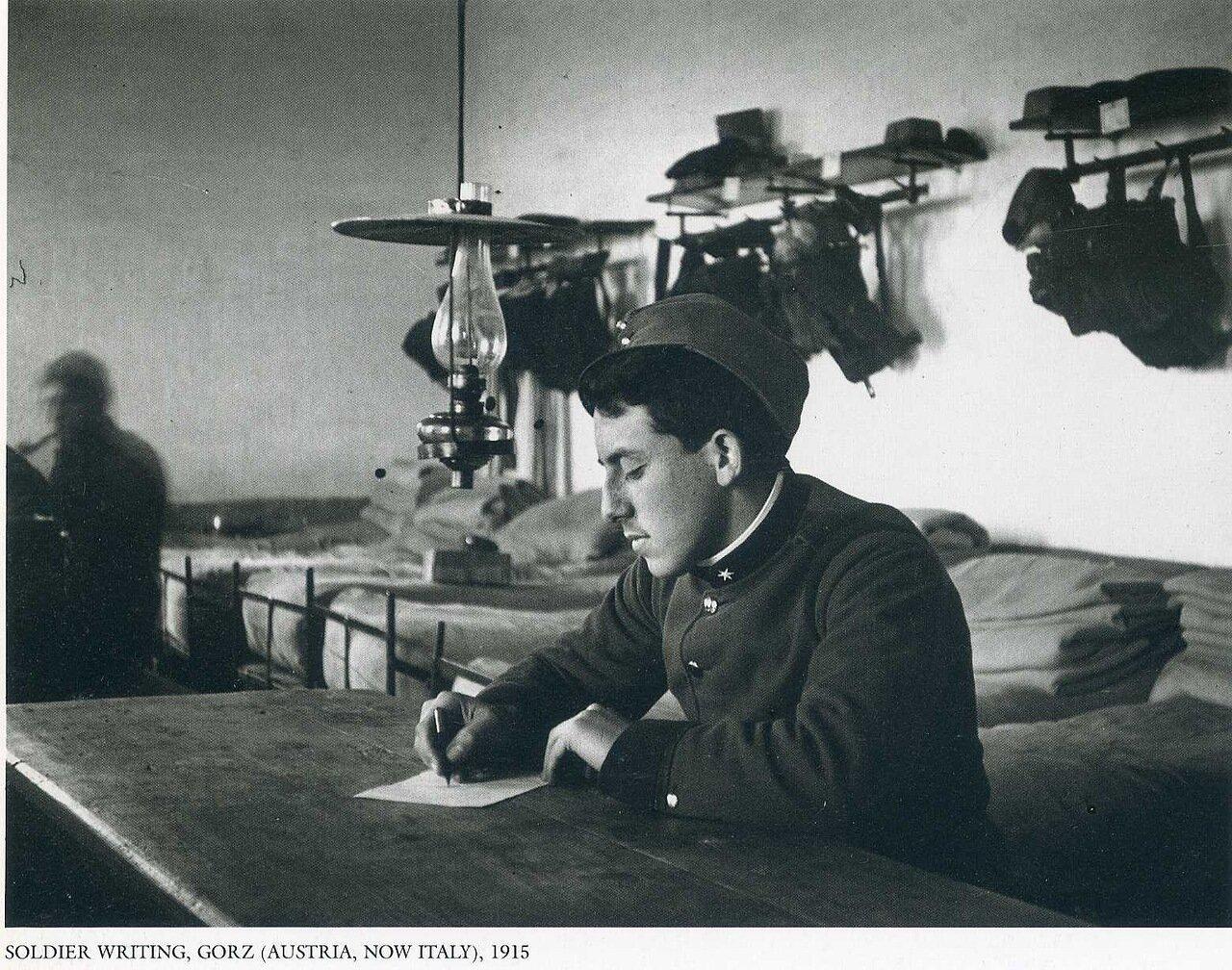 Солдат пишет. Горз, Австрия. 1915