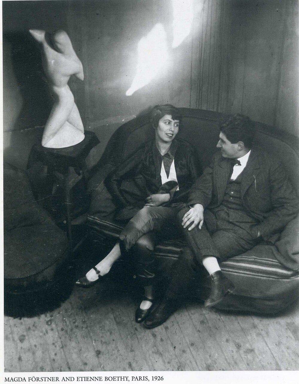 Магда Форстнер и Этьен Боэти. Париж, 1926