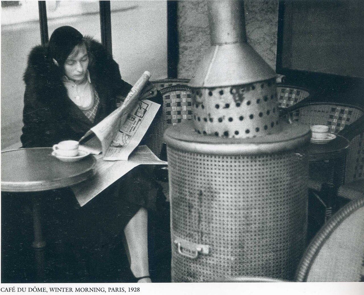 1925. Кафе Дю Дом. Зимнее утро Париж