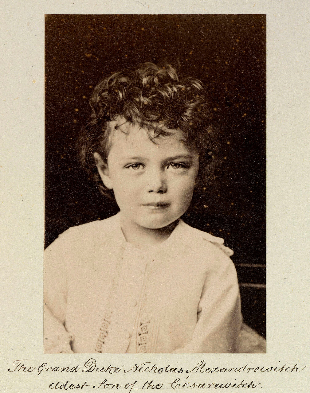 Великий князь Николай Александрович (1868-1918), будущий император Николай II, 1873