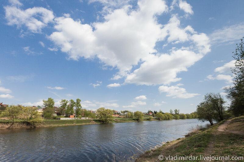 Река Пахра. Усадьба Ивановское.