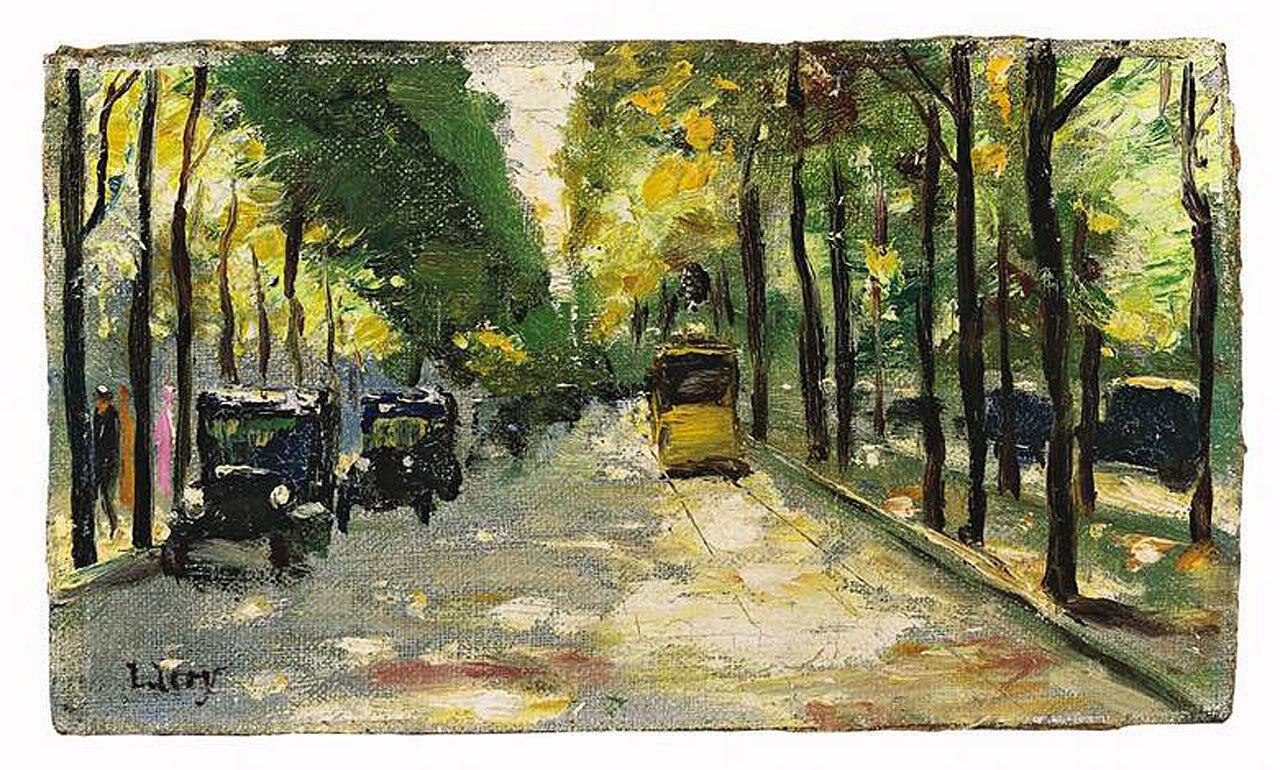 Берлинская улица в солнечном свете. 1920-е, Лессер Ури (1861-1931)