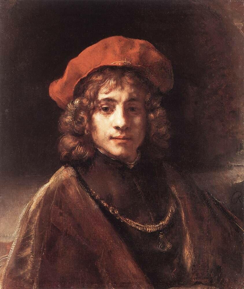 Портрет Титуса, сына Рембрандта, 1657.