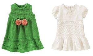 Раз, два, три готово платье спицами от Gymborее
