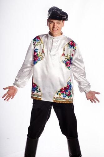Мужской карнавальный костюм Народный белый