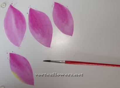 Окраска ткани для цветов, как красить ткань для цветов.