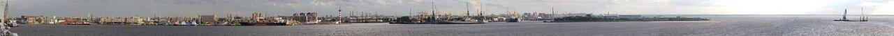 Saint-Petersburg. Seaport panorama