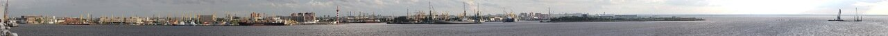 Санкт-Петербург. Морской порт, панорама