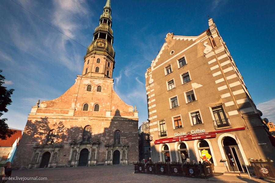 Латвия, Рига, Latvia, Riga, Старый город Риги, Церковь Св Петра