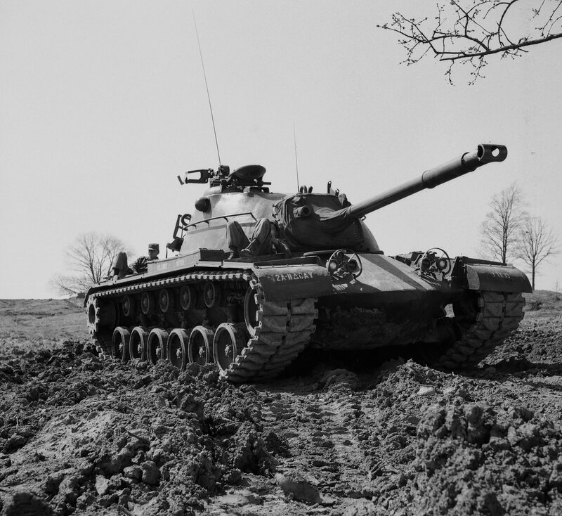 Our M48 at Ft Knox, 1956