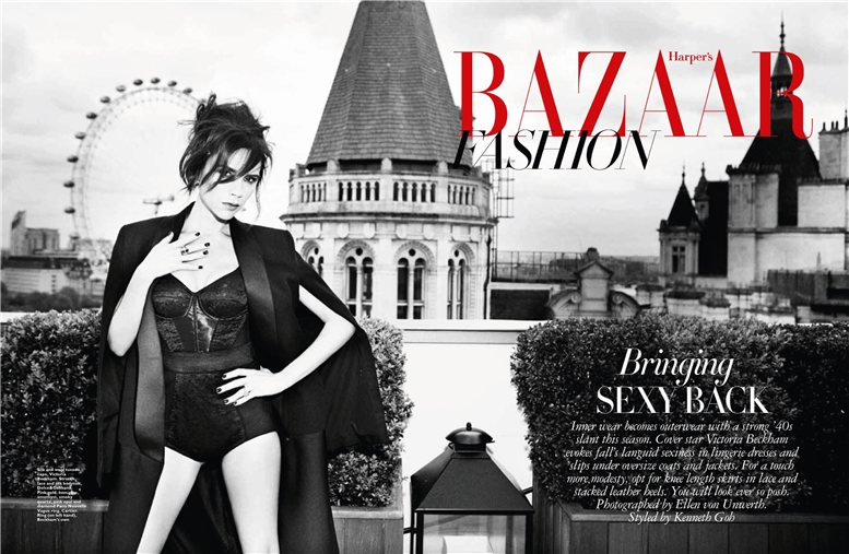 Victoria Beckham / Виктория Бекхэм, фотограф Ellen von Unwerth - Harper's Bazaar Singapore september 2013