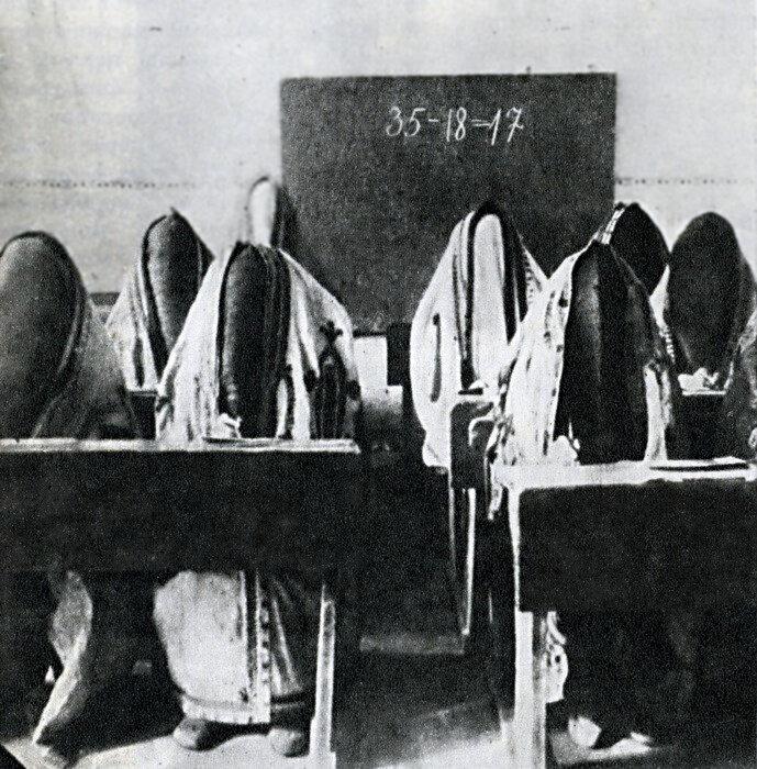 Во время первых кампаний по борьбе с неграмотностью в Ташкенте в 1921 году