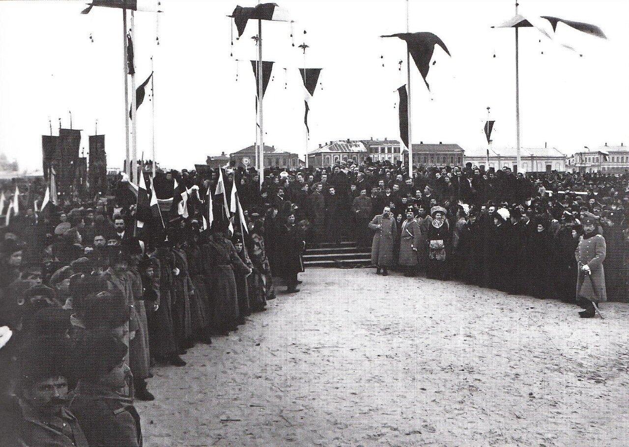 Торжественное освящение места закладки университета. 6 декабря 1909 года