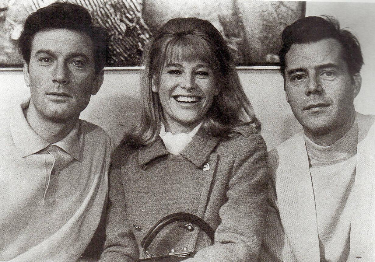 1965. Лоуренс Харви, Джули Кристи и Дерк Богард