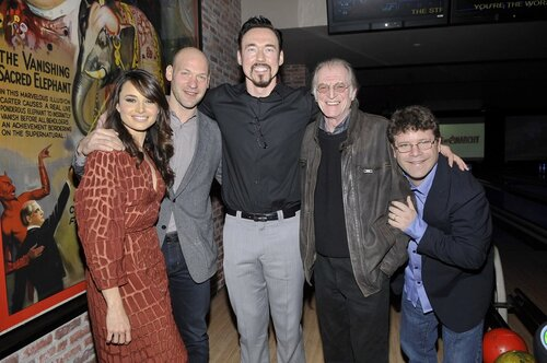 NEW YORK, NY - APRIL 9: Mia Maestro, Corey Stoll, Kevin Durand, David Bradley and Sean Astin attend the FX Networks 2014 Upfront Bowling Party at Lucky Strike Bowl on April 9, 2014 in New York City.PGMarks/MediaPunch/insight media