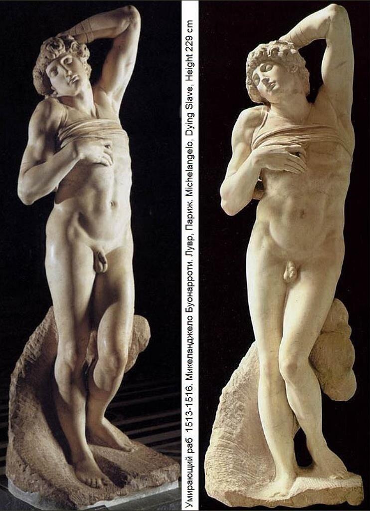 Dying slave, (1513-16) Michelangelo, Louvre(2)