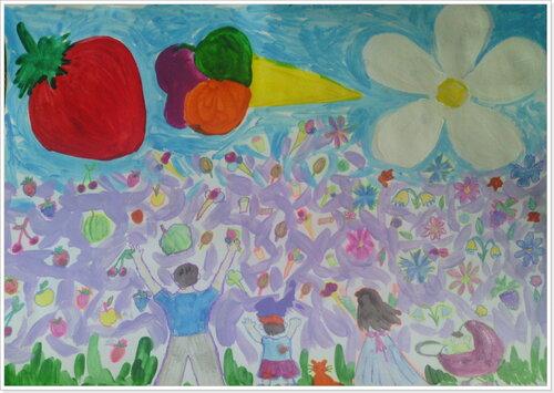 Конкурс рисунка. Выставка работ. Любимый дождик. Авторы: Артем и Вася Ефремовы